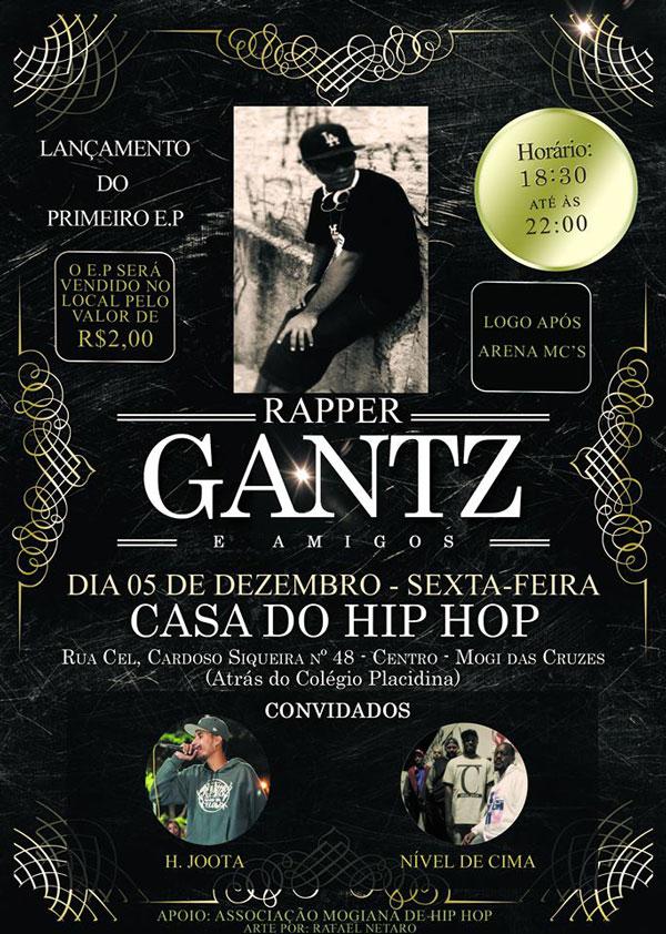 Lançamento do EP do rapper mogiano 'Gantz'
