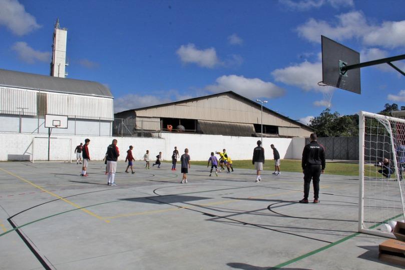 Quadra poliesportiva da Arena Nogueirão