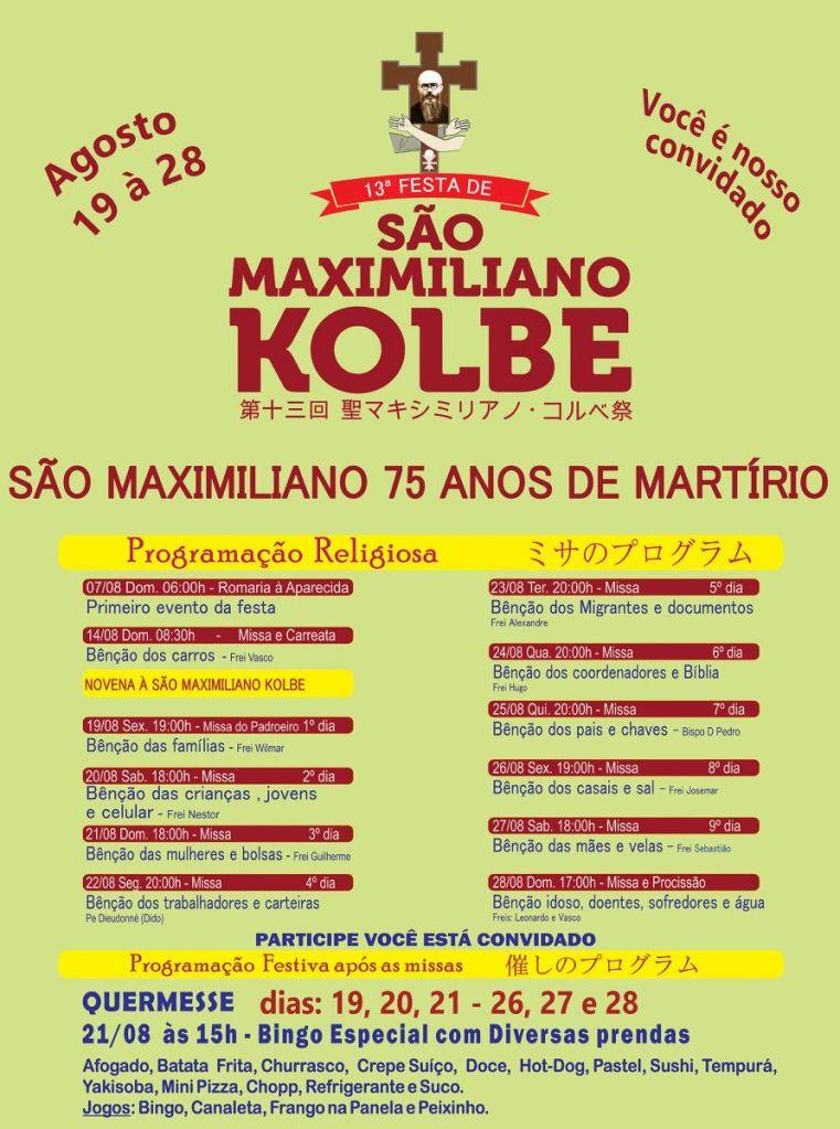 Festa de São Maximiliano Kolbe