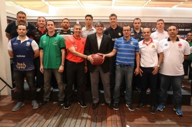 Técnicos do NBB CAIXA presentes no evento. Foto: Liga Nacional de Basquete