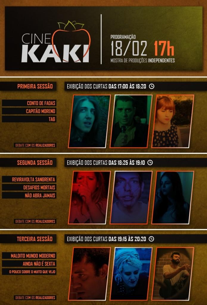 1ª edição da mostra de curtas 'Cine Kaki'