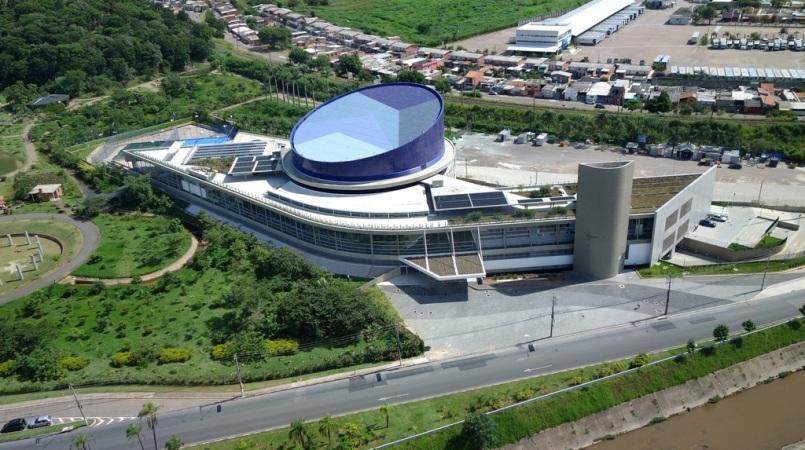 Vista aérea do Sesc Jundiaí. Foto: Rodrigo Amorim