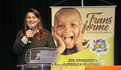 A presidente do Fundo Social de Solidariedade, Karin Melo, deu início oficial à campanha, que visa presentear crianças no período do Natal. Foto: Ney Sarmento/ PMMC