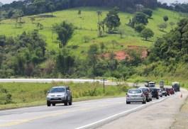 O trecho de pista que será duplicado. Rodovia recebe em média 159 mil veículos por dia. Foto: Gilberto Marques/A2img