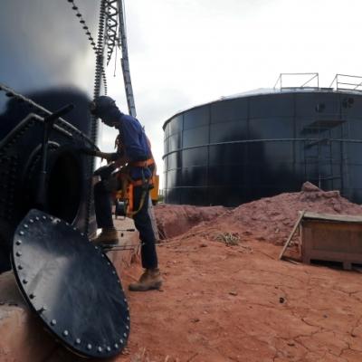 São dois reservatórios com capacidade para 2 milhões de litros cada e que atenderão 16 mil moradores. Foto: Ney Sarmento/PMMC